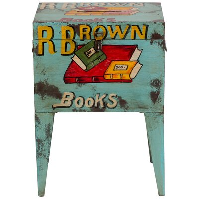 Cresskill Books Ballot Box End Table
