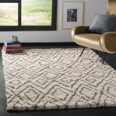 Cammie Ivory Area Rug Rug Size: Rectangle 51 x 76