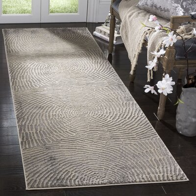 Wendi Contemporary Taupe Area Rug Rug Size: Runner 27 x 8