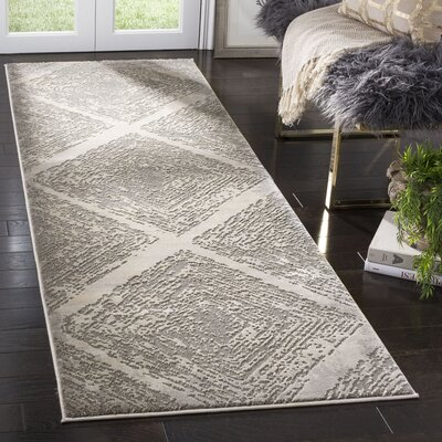 Wendi Taupe Area Rug Rug Size: Runner 27 x 8