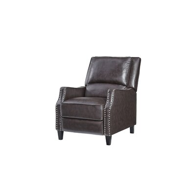 Gillies Manual Recliner Upholstery: Brown