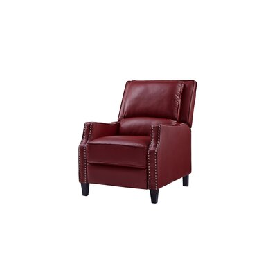 Gillies Manual Recliner Upholstery: Red