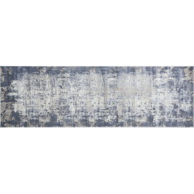 Bourn Denim/Gray Area Rug Rug Size: Runner 27 x 8