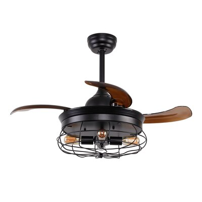 36.5 Belote Industrial 4 Blade Ceiling Fan with Remote