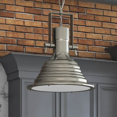 Dudek 1-Light Mini Bowl Pendant Finish: Satin Nickel