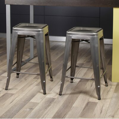 Caine 24 Bar Stool Color: Gunmetal