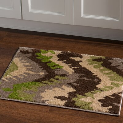 Thorton Brown/Green Area Rug Rug Size: Rectangle 2 x 3