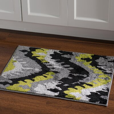Thorton Black/Grey Area Rug Rug Size: Rectangle 2 x 3