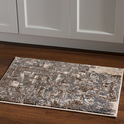 Milam Rectangle Gray/Beige Area Rug Rug Size: Rectangle 2 x 3