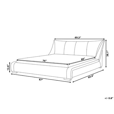 Piero Upholstered Platform Bed Size: King