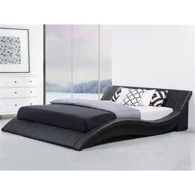 Iwan Upholstered Sleigh Bed Color: Black, Size: Queen