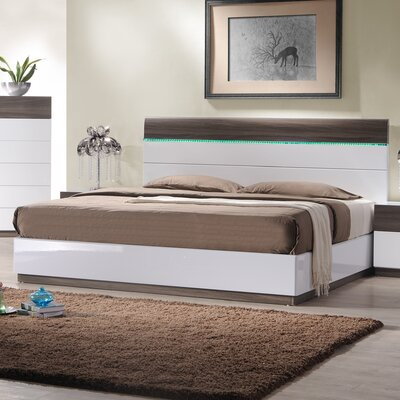 Elida Upholstered Platform Bed Size: Queen