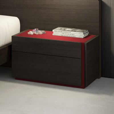 Elida 2 Drawer Nightstand