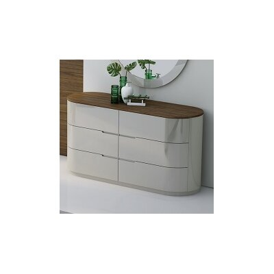 Lisa 6 Drawer Dresser