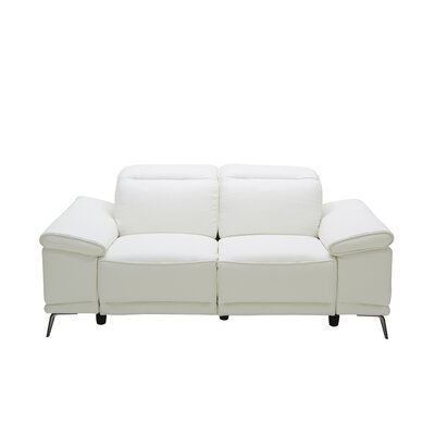 Brookville Leather Reclining Loveseat