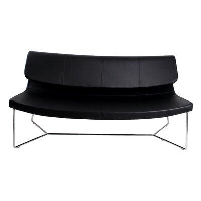 Hayden Leatherette Loveseat Upholstery: Black