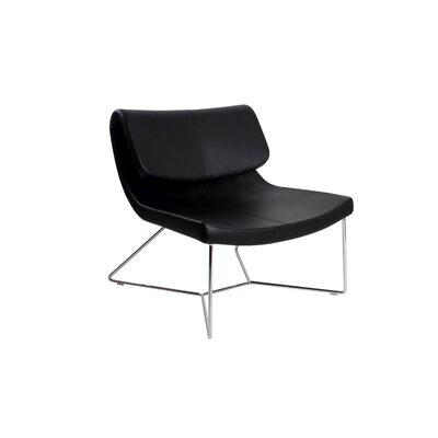 Bruin Lounge Chair Upholstery: Black
