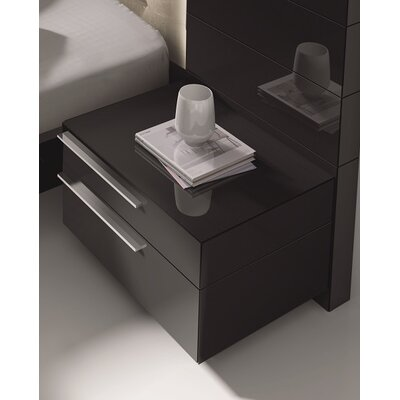 Callery Contemporary 2 Drawer Nightstand