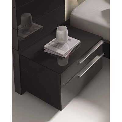 Callimont Contemporary 2 Drawer Night Stand