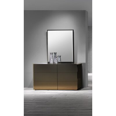 Tiya 6 Drawer Dresser with Mirror
