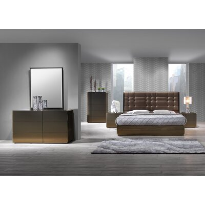 Tiya Upholstered Platform Bed Size: King