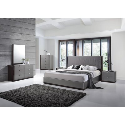 Carmichaels Upholstered Platform Configurable Bedroom Set