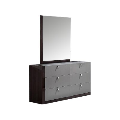 Carmichaels 6 Drawer Double Dresser with Mirror