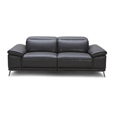 Carnegie Leather Reclining Loveseat
