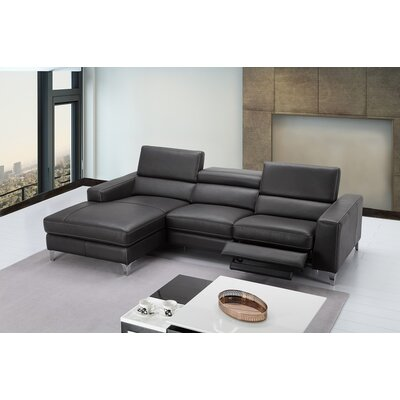Carrolltown Leather Reclining Sectional Orientation: Left Hand Facing