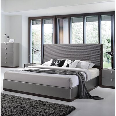 Carmichaels Upholstered Platform Bed Size: King