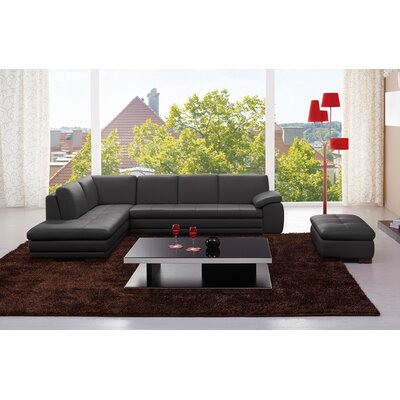Casselman Leather Sectional Orientation: Left Hand Facing