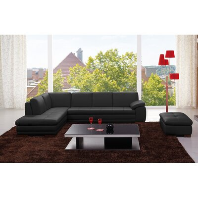Alisha Leather Sectional Orientation: Left Hand Facing