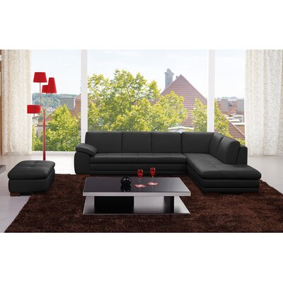 Cassville Leather Sectional Orientation: Right Hand Facing
