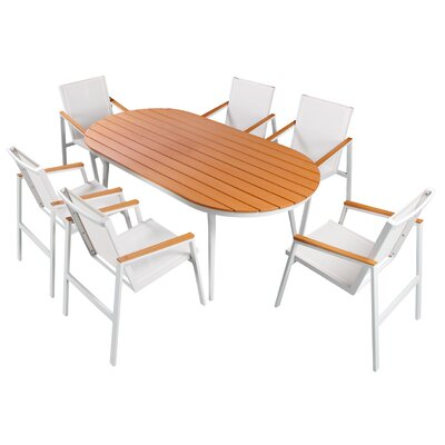 Skylar 7 Piece Sail Dining Set