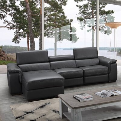 Zosia Premium Leather Sectional Orientation: Left Hand Facing