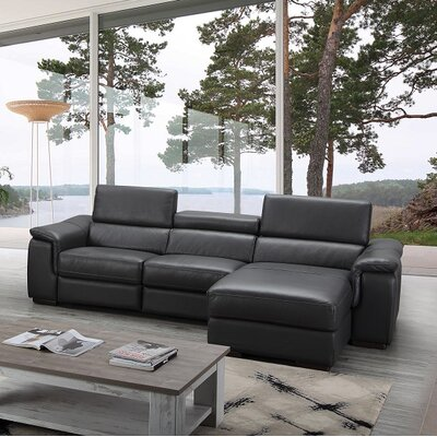 Zosia Leather Sectional Orientation: Right Hand Facing