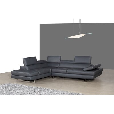 Kamila Leather Sectional Orientation: Left Hand Facing