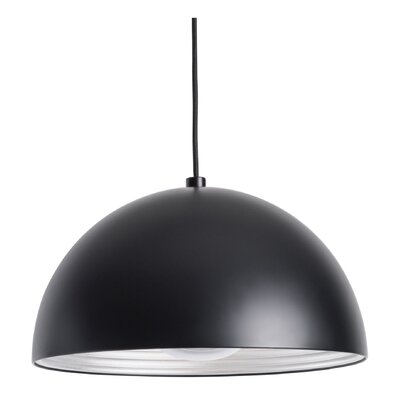 Aidan 1-Light Inverted Pendant Shade Color: Black, Size: Small