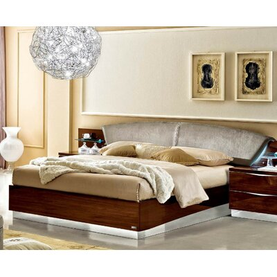 Edwards Upholstered Platform Bed Finish: Walnut, Size: King