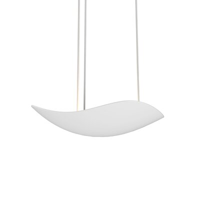 Roberta 1-Light LED Bowl Pendant Finish: Satin White