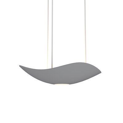 Roberta 1-Light LED Bowl Pendant Finish: Dove Gray
