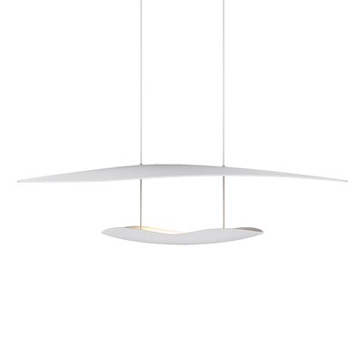 Holden 1-Light LED Geometric Pendant Finish: Satin White