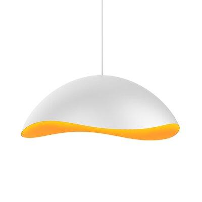 Frazier 1-Light LED Inverted Pendant Finish: Satin White/Apricot
