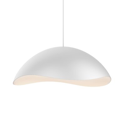 Frazier 1-Light LED Inverted Pendant Finish: Satin White/White