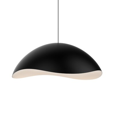 Frazier 1-Light LED Inverted Pendant Finish: Satin Black/White
