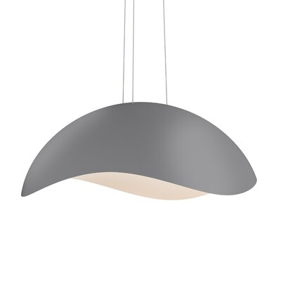 Frazier 1-Light LED Inverted Pendant Finish: Dove Gray/White