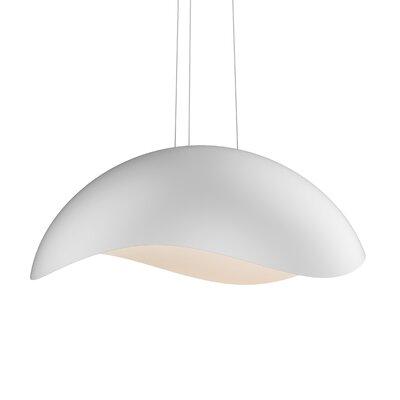 Frazier 1-Light LED Inverted Pendant Finish: Satin White/White