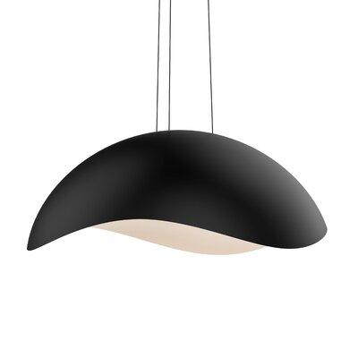 Frazier 1-Light LED Inverted Pendant Finish: Satin Black/White