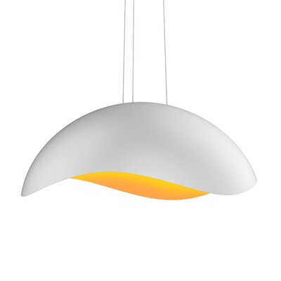 Frazier 1-Light LED Inverted Pendant Finish: Satin White/Apricot