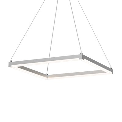 Penndel LED Hardwired Geometric Pendant Finish: Bright Satin Aluminum